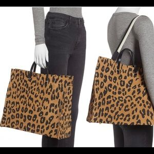 Clare V. Simple Suede Leopard Tote